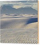Circles In The Sand Wood Print