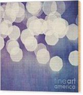 Circles Of Light Wood Print