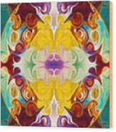 Circling The Unknown Abstract Healing Artwork By Omaste Witkowsk Wood Print