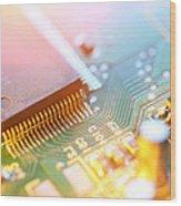 Circuit Board Abstract Wood Print
