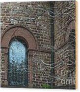 Circular Church Window Wood Print