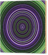 Circular Concentric Stripes In Multiple Colors Wood Print