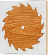 Circular Saw Blade With Pine Wood Texture Wood Print by Stephan Pietzko