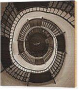 Circular Staircase In The Granitz Hunting Lodge Wood Print