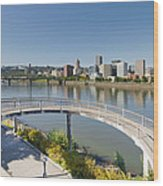 Circular Walkway On Portland Eastbank Esplanade Wood Print