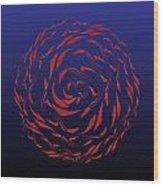 Circularity No. 772 Wood Print