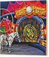 Circus Act Wood Print
