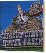 Circus Circus Wood Print