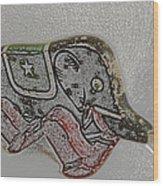 Circus Elephant Wood Print