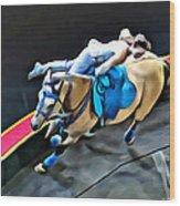 Circus Horse Trickster Wood Print