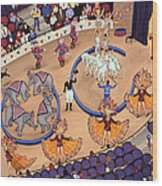 Circus Ladies Wood Print