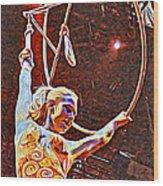 Circus Performer Wood Print