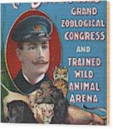 Circus Program, C1901 Wood Print