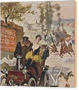 Circus Star Kidnapped Wilhio S Poster For De Dion Bouton Cars Wood Print