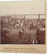 Circus Train Wreck, 1896 Wood Print