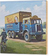 Circus Truck Wood Print by Mike  Jeffries