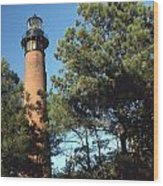 Cirrituck Beach Light Wood Print