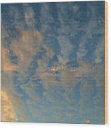 Cirrocumulus Morning Wood Print