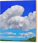 Cumulus Impressionism Wood Print
