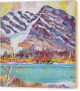 Cirrus Mountain Wood Print