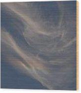 Cirrus Rainbow Cloud Wood Print