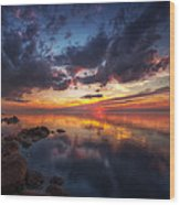 Cirrus Reflections Wood Print by Stuart Deacon