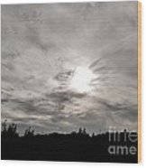 Cirrus Sunset Wood Print
