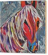 Cisco Abstract Horse  Wood Print