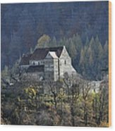 Cisnadioara Michelsberg Siebenbuerger medieval Castle Wood Print