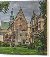 Cistercian Church From 12th And 13th Century In Wachock In Poland Wood Print