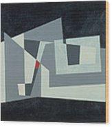 Citadel, Version 3, 1982 Oil On Hardboard Wood Print