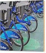 Citibike Rentals Nyc Wood Print
