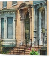 Cities - Albany Ny Brownstone Wood Print