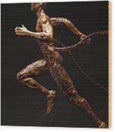 Olympic Runner Citius Altius Fortius  Wood Print