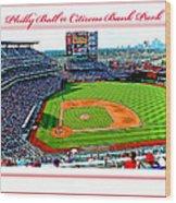 Citizens Bank Park Phillies Baseball Poster Image Wood Print