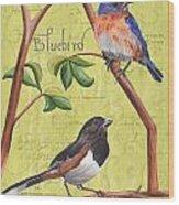 Citron Songbirds 1 Wood Print by Debbie DeWitt