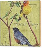 Citron Songbirds 2 Wood Print