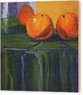 Citrus Chrome Wood Print
