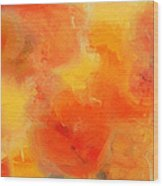 Citrus Passion - Abstract - Digital Painting Wood Print