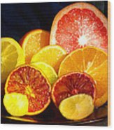 Citrus Season Wood Print by Anastasia Savage Ealy