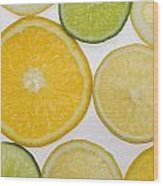 Citrus Slices Wood Print by Kelly Redinger
