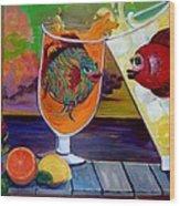 Citrus Sunset Wood Print