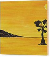 Citrus Sunset Wood Print