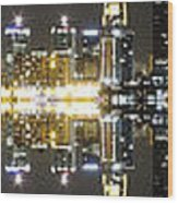 City Approach Panoramic Wood Print
