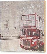 City-art London Red Buses II Wood Print by Melanie Viola