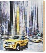 City-art Times Square II Wood Print by Melanie Viola