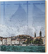 City-art Venice Panoramic Wood Print