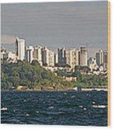 City At The Waterfront, Salvador Wood Print