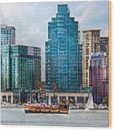 City - Baltimore Md - Harbor East  Wood Print