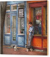 City - Baltimore Md - Waiting By Joe's Bike Shop  Wood Print